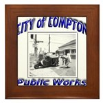 Compton Public Works Framed Tile