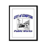 Compton Public Works Framed Panel Print