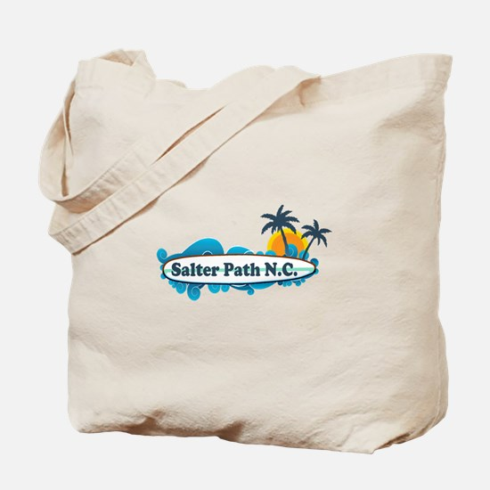 Salter Path NC - Surf Design Tote Bag