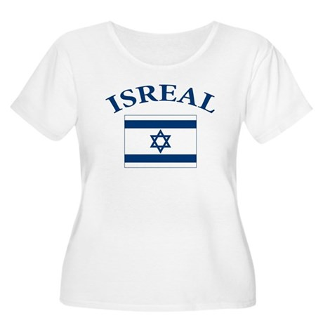 I love Isreal Women's Plus Size Scoop Neck T-Shirt