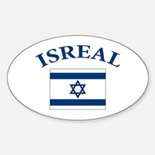 I love Isreal Sticker (Oval)