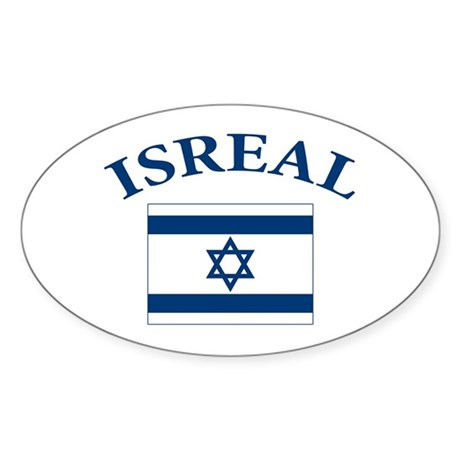 I love Isreal Sticker (Oval 50 pk)