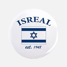 """I love Isreal 3.5"""" Button"""