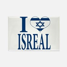 I love Isreal Rectangle Magnet