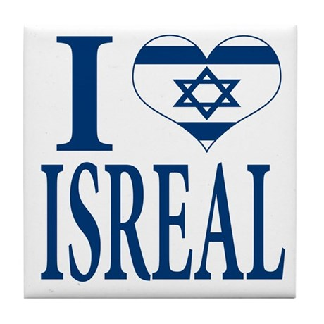 I love Isreal Tile Coaster