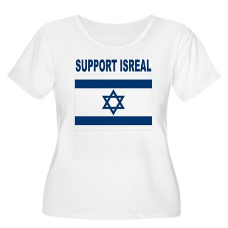 Support Isreal Women's Plus Size Scoop Neck T-Shir