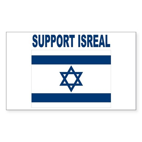 Peace for Isreal Sticker (Rectangle)