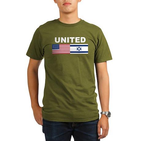 Support Isreal Organic Men's T-Shirt (dark)
