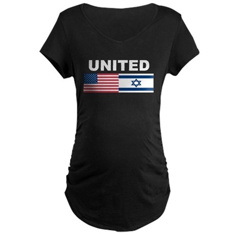 Support Isreal Maternity Dark T-Shirt