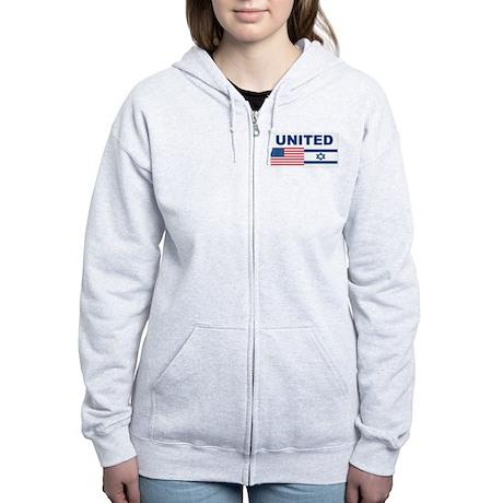 Support Isreal Women's Zip Hoodie