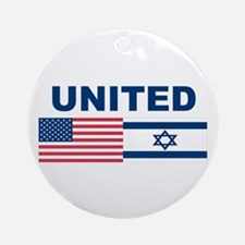 Support Isreal Ornament (Round)