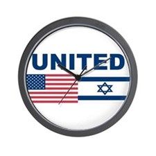 Support Isreal Wall Clock
