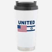 Support Isreal Stainless Steel Travel Mug