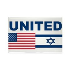 Support Isreal Rectangle Magnet