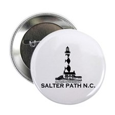 "Salter Path NC - Lighthouse Design 2.25"" Button"
