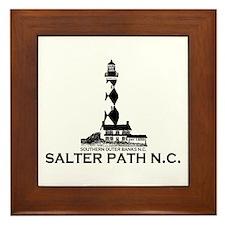 Salter Path NC - Lighthouse Design Framed Tile