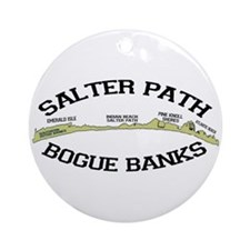 Salter Path NC - Map Design Ornament (Round)