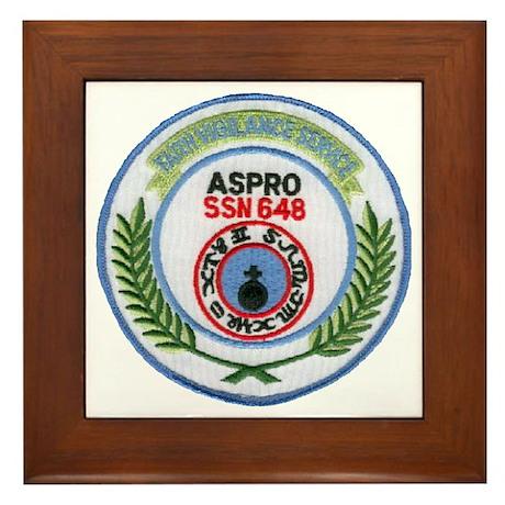 USS ASPRO Framed Tile