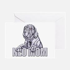 Neo Mom Blue UC Greeting Card