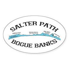 Salter Path NC - Map Design Decal