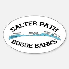 Salter Path NC - Map Design Decal