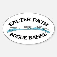 Salter Path NC - Map Design Sticker (Oval)