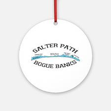 Salter Path NC - Map Design Ornament (Round)