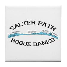 Salter Path NC - Map Design Tile Coaster