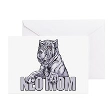 Neo Mom Blue Greeting Cards (Pk of 20)