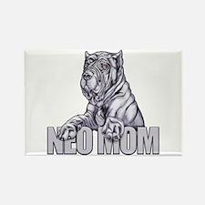 Neo Mom Blue Rectangle Magnet