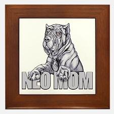 Neo Mom Blue Framed Tile