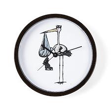 Hockey Stork Wall Clock