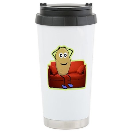 couch potato Stainless Steel Travel Mug