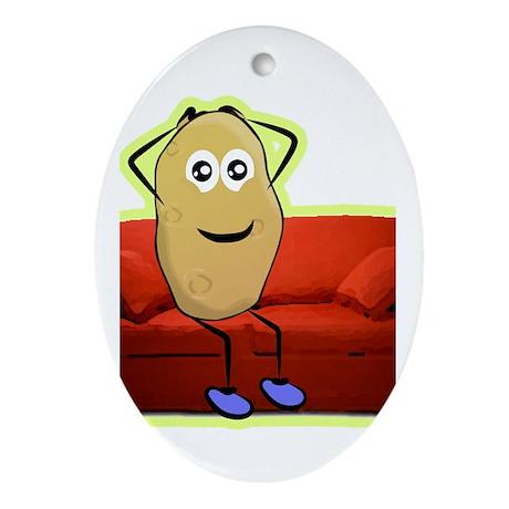 couch potato Ornament (Oval)