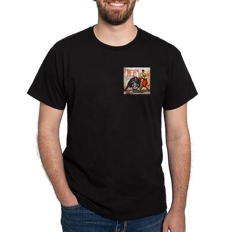 Bullfight Art Black T-Shirt