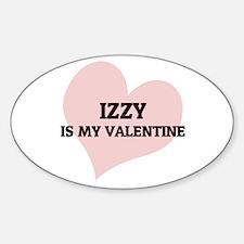 Izzy Is My Valentine Oval Decal