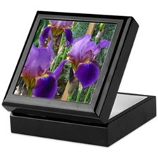 PURPLE IRIS Keepsake Box