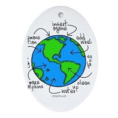 To Do Globe Gear Oval Ornament