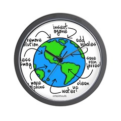 To Do Globe Gear Wall Clock