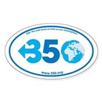 350.org Sticker (Oval)