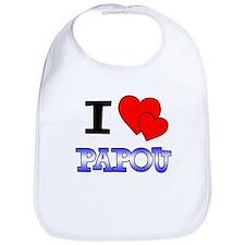 I Love Papou Bib
