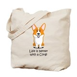 Welsh corgi Canvas Totes