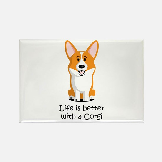 Pembroke Welsh Corgi Rectangle Magnet