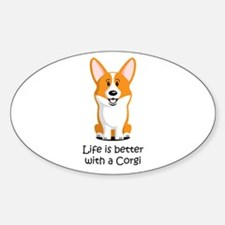 Pembroke Welsh Corgi Sticker (Oval)