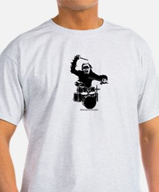 Gorilla playing the drum T-Shirt