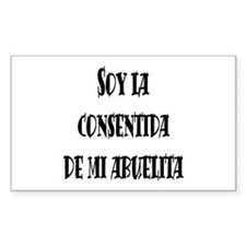 consentida de abuelita negro Rectangle Decal