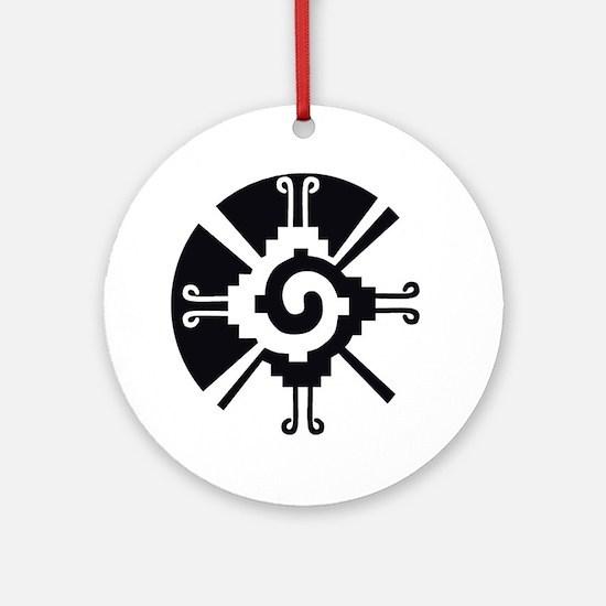 Mayan Unity Symbol Ornament (Round)