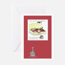 Chocolate Cats Greeting Cards (Pk of 10)
