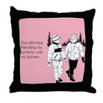 Effortless Friendship Throw Pillow