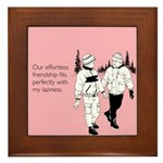 Effortless Friendship Framed Tile